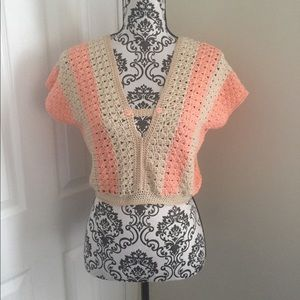 Tops - NWOT  BLOUSE HAND KNITTED